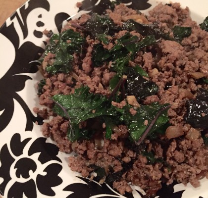 paleo ground beef and kale
